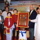 Receiving a Peace award in India, 2008
